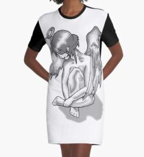 Lonely Angel Graphic T-Shirt Dress