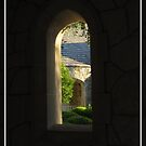 Church Arch View Window- Be Still and Know I am God by StonePics