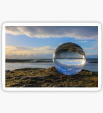 Blue Glass Ball Sticker