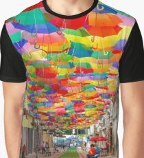 Floating Umbrellas Graphic T-Shirt