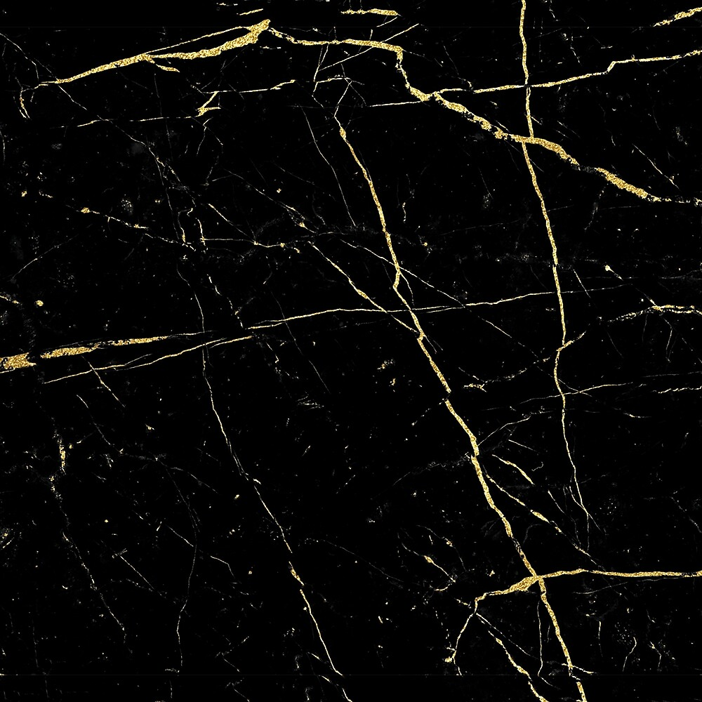 Quot Black And Gold Marble Texture Quot By Lumenbigott Redbubble