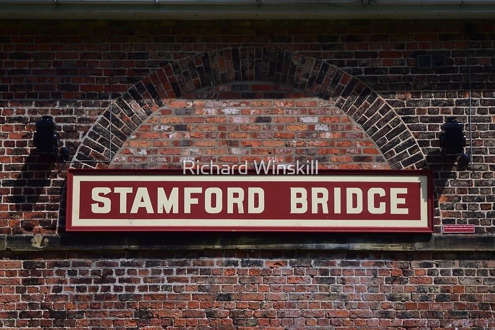 Stamford Bridge - Station Sign by Richard Winskill