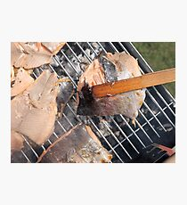 Fresh pork meat with vegetables Photographic Print
