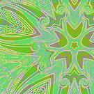 Rainy Day Green Mandala by Edward Huse