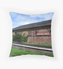 Stamford Bridge - Train Station Building Throw Pillow