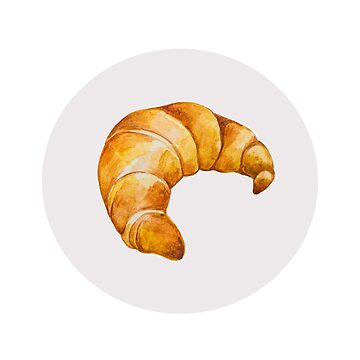 Watercolor Croissant by LidiaP