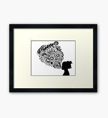 Breathe Zentangle Framed Print