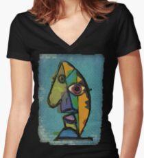picasso graffiti # 7 Women's Fitted V-Neck T-Shirt