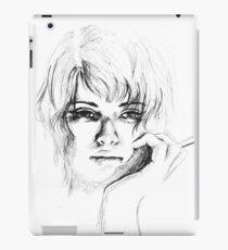 Woman with cigarette iPad Case/Skin
