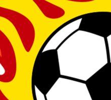 Soccer Ball On Fire Sticker