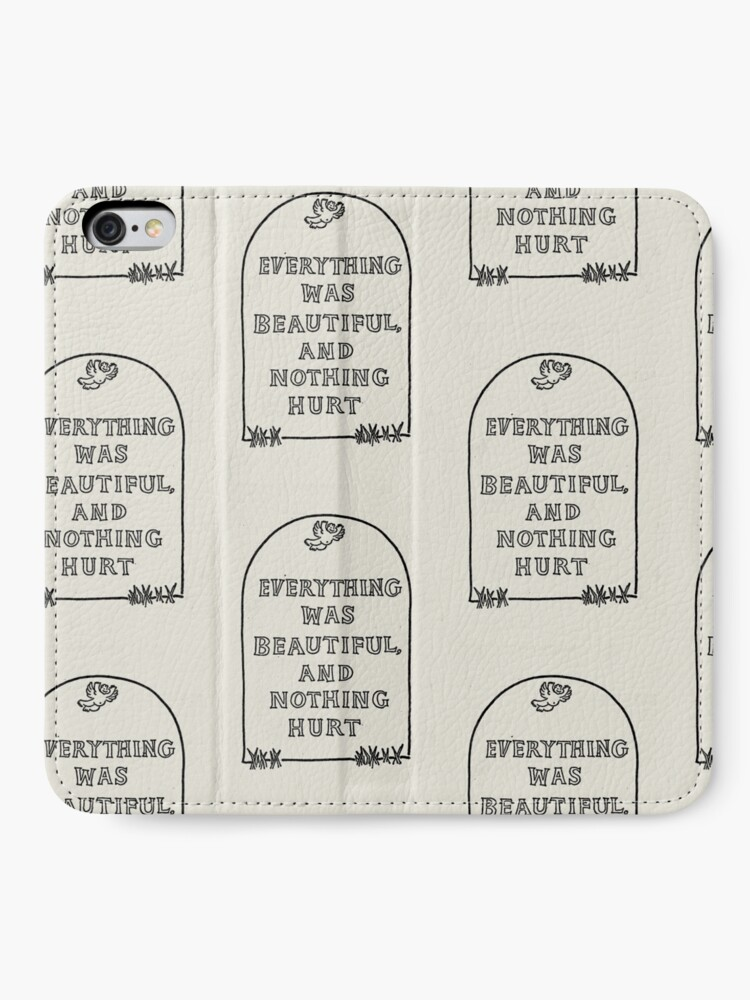 Alternate view of Slaughterhouse Five –Everything Was Beautiful and Nothing Hurt iPhone Wallet