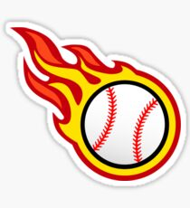 Baseball On Fire Sticker