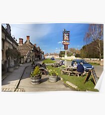 The Longs Arms Pub, Steeple Ashton, Wiltshire, UK Poster