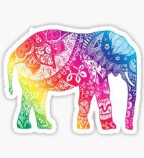 Regenbogen Elefant Sticker