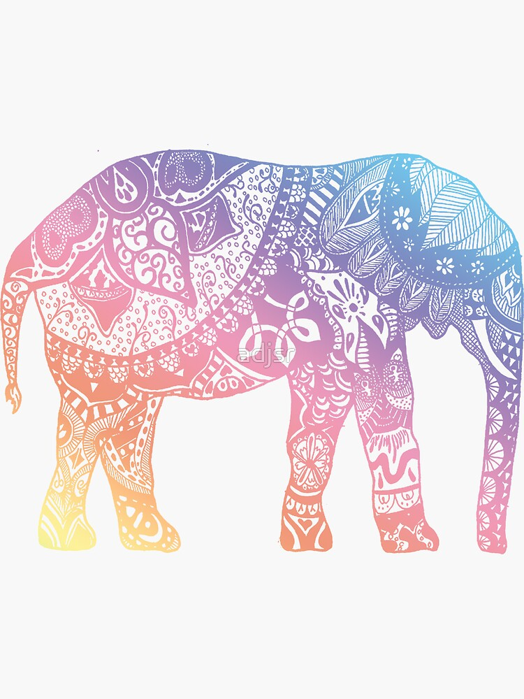 «Éléphant pastel» par adjsr