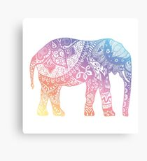 Pastel Elephant Canvas Print