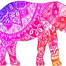 «Elefante rosado y naranja» de adjsr