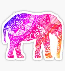 Pink and Orange Elephant Sticker