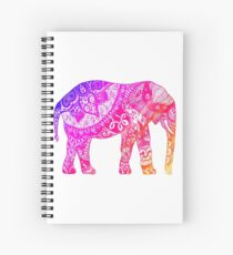 Pink and Orange Elephant Spiral Notebook