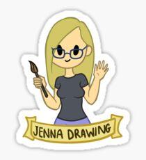Jenna Drawing Sticker