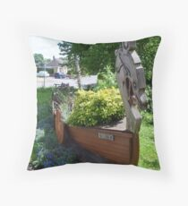 "Stamford Bridge - Viking Longboat Planter ""Ormen"" Throw Pillow"