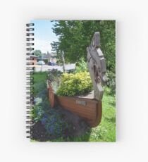 "Stamford Bridge - Viking Longboat Planter ""Ormen"" Spiral Notebook"