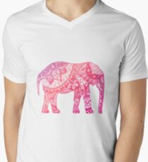Light Pink Elephant Men's V-Neck T-Shirt