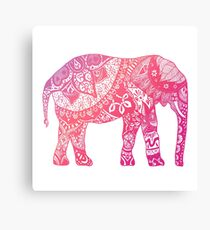 Light Pink Elephant Canvas Print