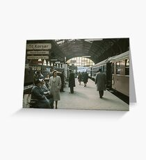 Copenhagen Railway Station 19610415 0109  Greeting Card