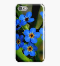 Forget-Me-Nots, Manfield Scar,River Tees, England iPhone Case/Skin