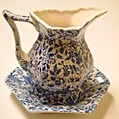 Blue and White Jug and Bowl by Shulie1