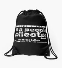 People Collector - White (WFARB) Drawstring Bag