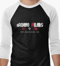 aRowe Films Grunge White Men's Baseball ¾ T-Shirt