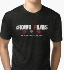 aRowe Films Grunge White Tri-blend T-Shirt