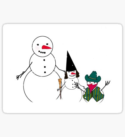 Halloween Time for Snowmen Sticker