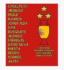 Spain 2012 Euro Winners Photographic Print