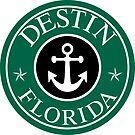 DESTIN FLORIDA ROUND ANCHOR NAUTICAL STAR EMERALD COAST by MyHandmadeSigns