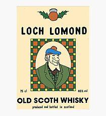 Loch Lomond old Scoth Whisky Photographic Print