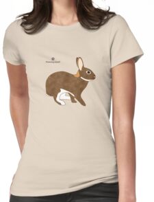 Chestnut Agouti Rabbit Womens Fitted T-Shirt