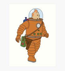 Belgium in Space  Art Print
