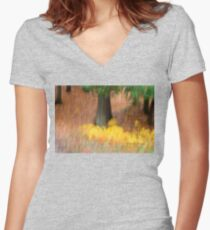 Trees - 30 - Impressions Women's Fitted V-Neck T-Shirt