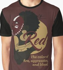 Red - The Color of Fire, Aggression & Blood Graphic T-Shirt