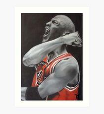 Jordan Airbrush Painting Art Print