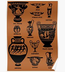 Ancient Greek Pottery Silhouette Poster