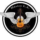 Musica L.A. Guitar Logo  by Larry Costales