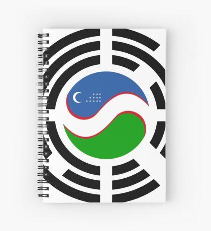 Korean Uzbeki Multinational Patriot Flag Series Spiral Notebook