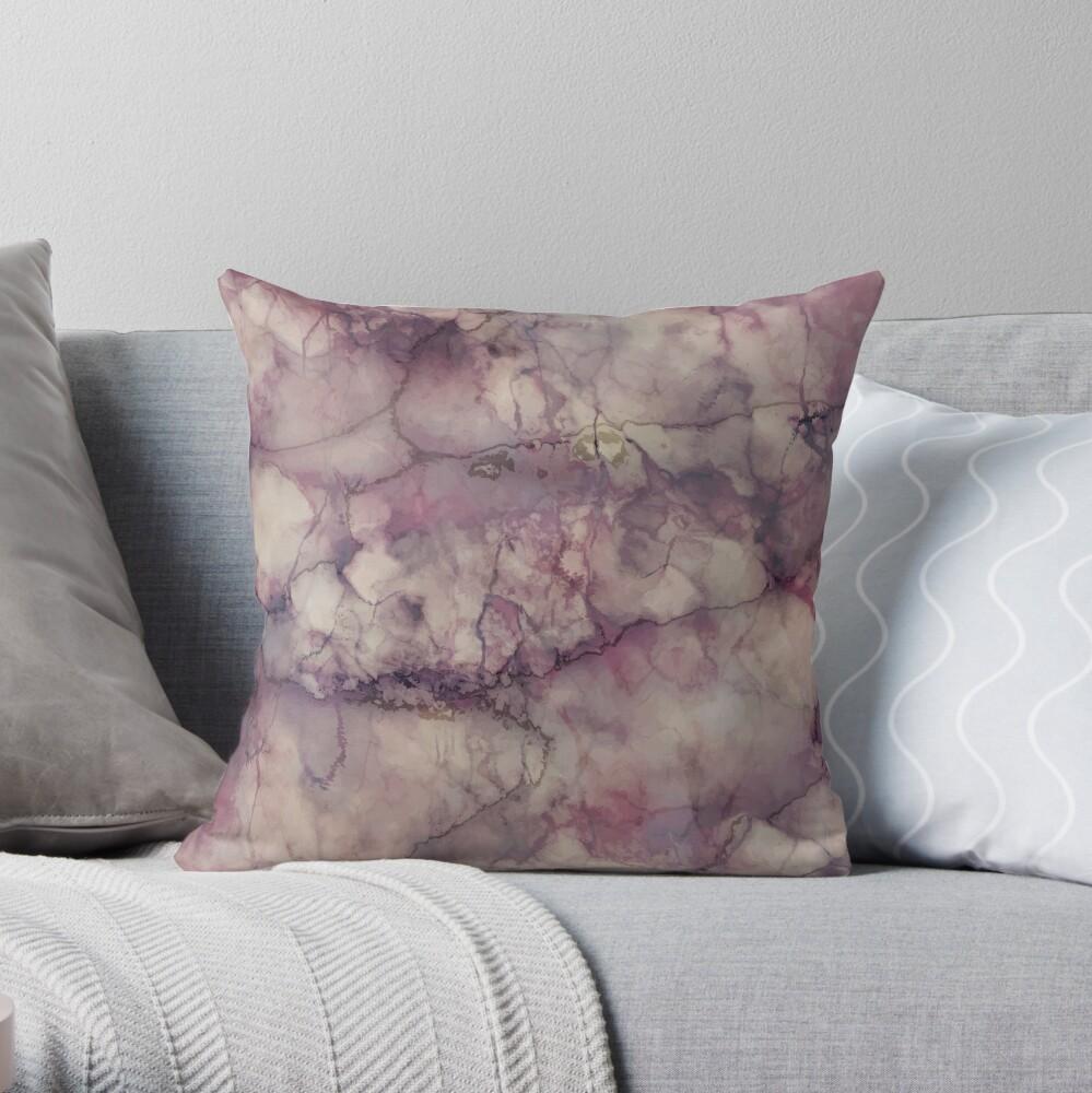 Marble Art V1 #redbubble #buyart Throw Pillow