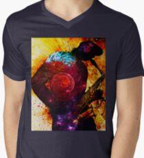 The Jazz Player Mens V-Neck T-Shirt