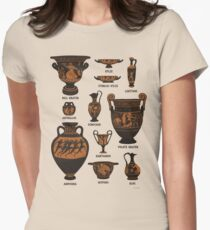 Ancient Greek Pottery Womens Fitted T-Shirt