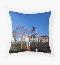 Blackpool-Rollercoaster Throw Pillow
